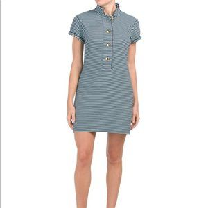 Sail to Sable NWT Navy/Beachglass Striped Dress